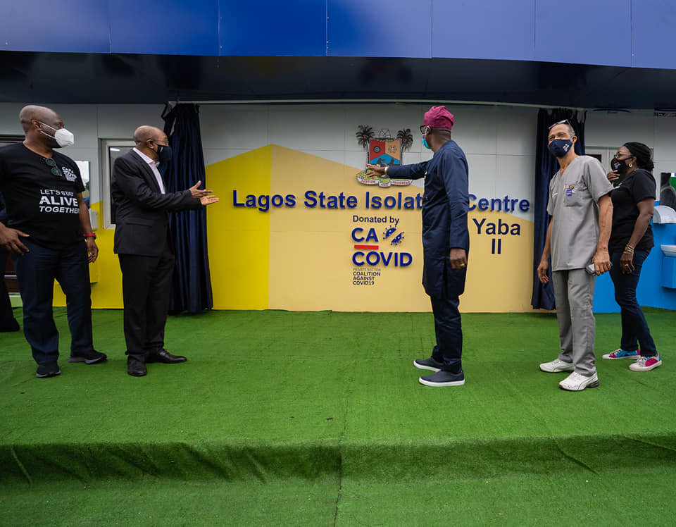 Sanwo Olu Unveils 150 Bed Isolation Centre Built by CACOVID Brandspurng3