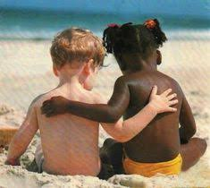White and Black Child