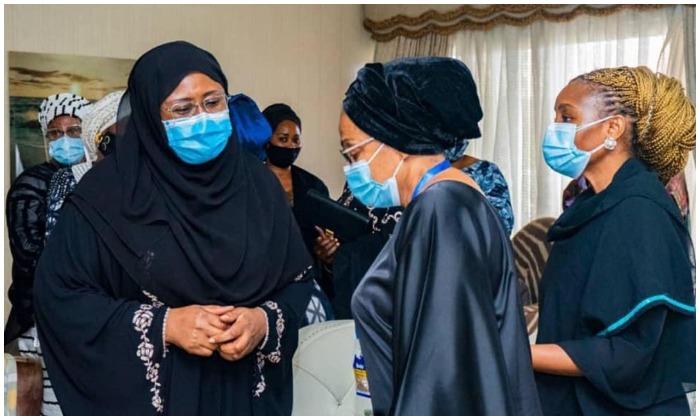 Mrs Buhari visits Ajimobi