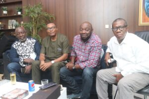 From L - R: Zeb Ejiro, Obi Osotule, Segun Arinze and Chico Ejiro.