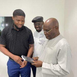Atiku receives copy of Poet who died by his Poem'