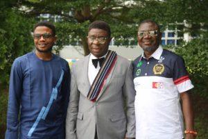 (l-r) Uche Agbo, Sir Victor Okhai & Famous Otakponmwem